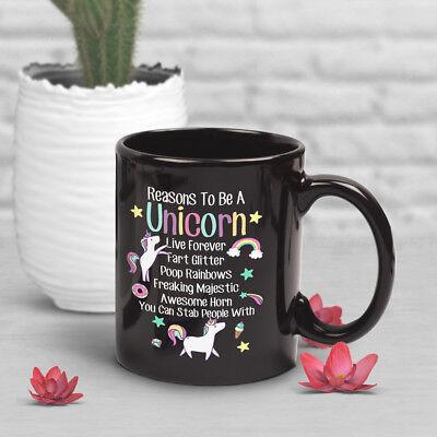 Him Unicorn Coffee Mug Cute Unicorn Lover Birthday Narwhal Cup Gift For Her