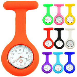 Nurse-Watch-Light-Silicone-Brooch-Tunic-FOB-Medical-Pocket-New-Mini-Watch-Timer