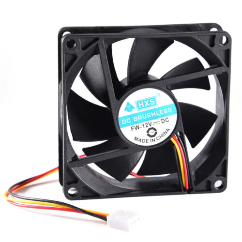 40mm 50mm 60mm 70mm 80mm DC 12V 2//3Pin Cooling Fan Square for PC Computer New