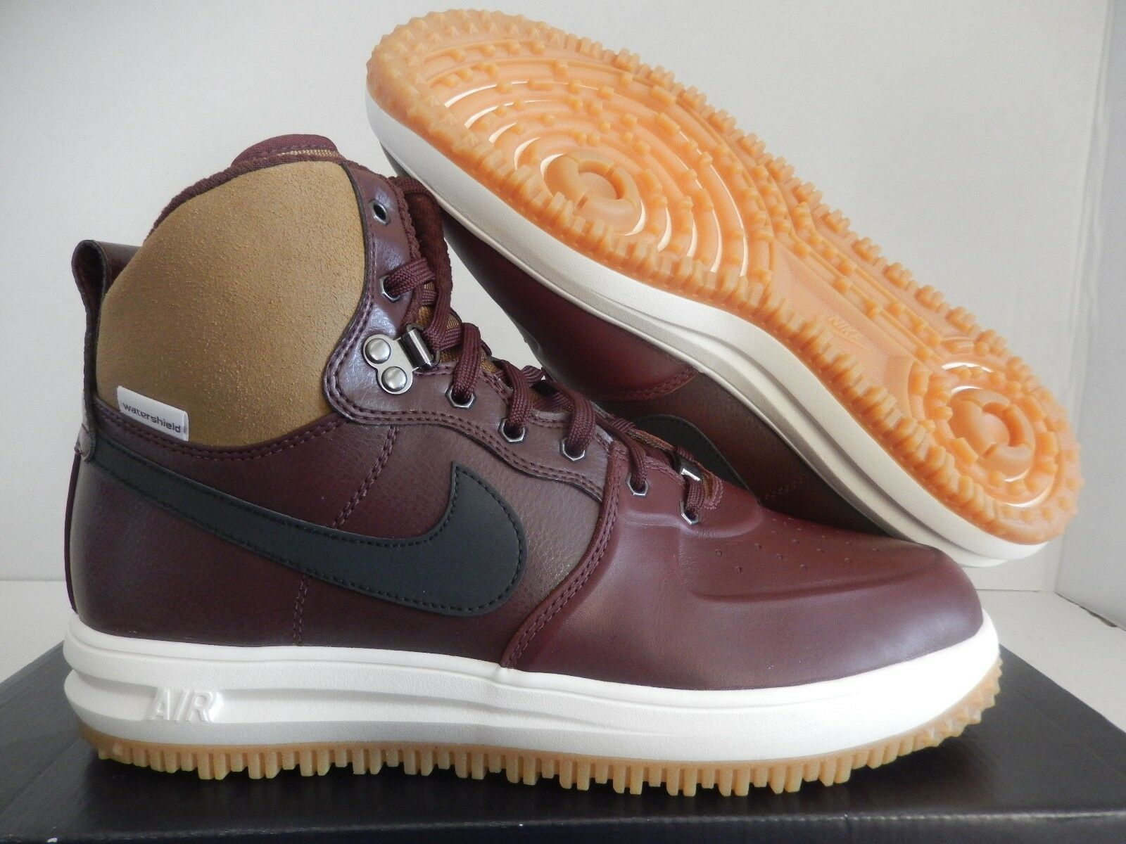 NIKE LUNAR FORCE 1 SNEAKERBOOT BARKROOT BROWN-BLACK SZ 11 [654481-200]