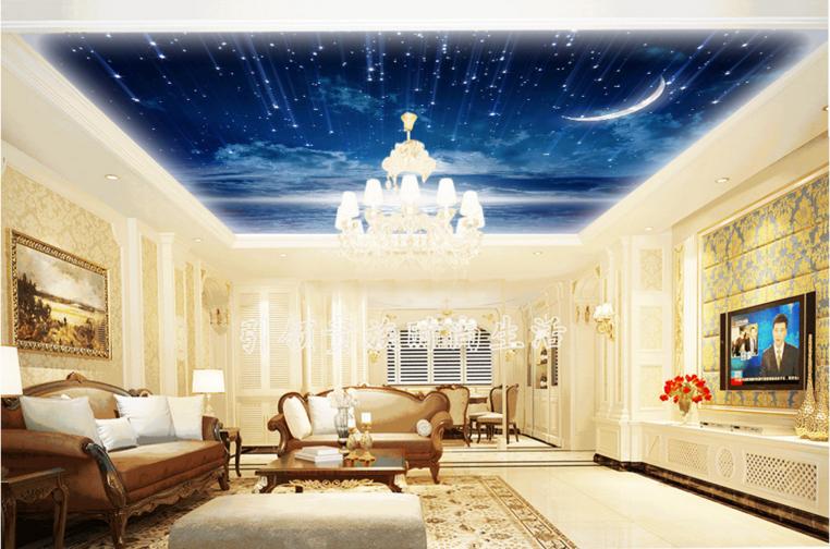 3D Meteors Moon 5 Ceiling WallPaper Murals Wall Print Decal Deco AJ WALLPAPER UK
