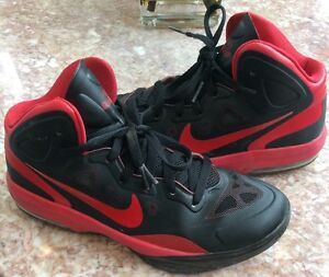 4b9a233af5e8c Image is loading NIKE-Air-Max-HyperGuardUp-Red-Black-Basketball-Sneakers-