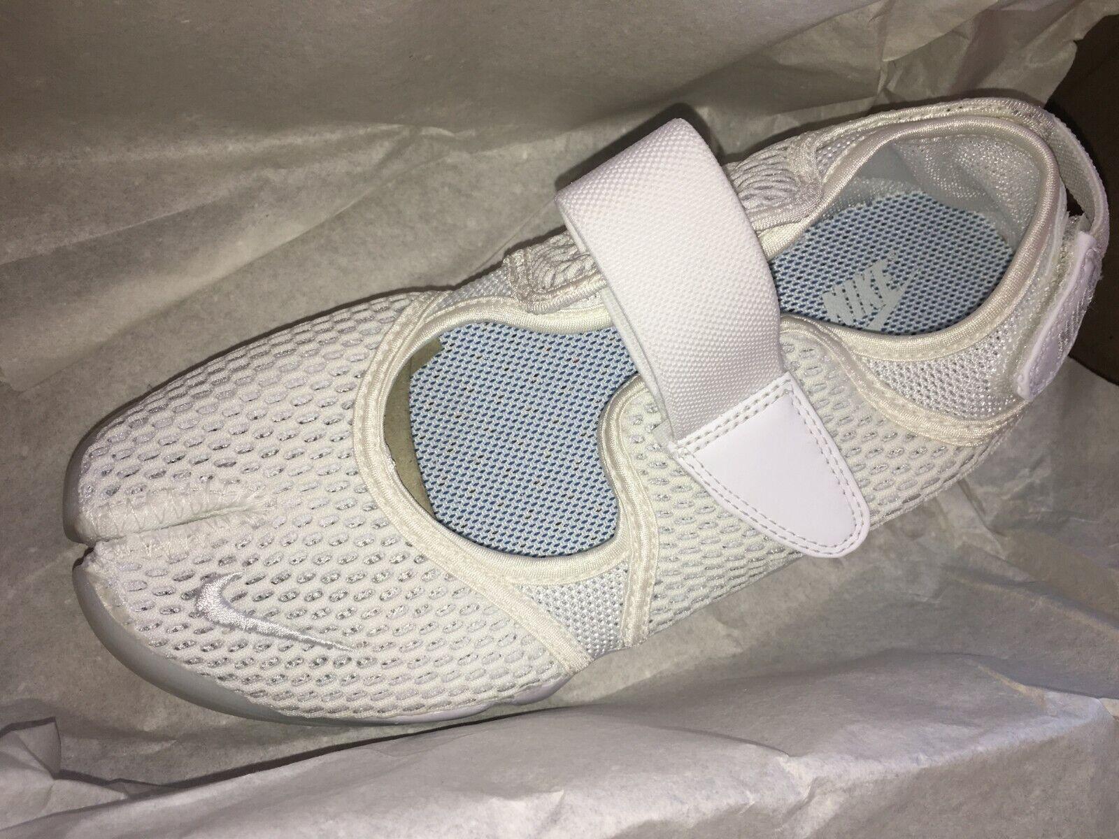 Nike Air Rift respirar grandes volantes para para para mujer blancooo 848386-100 DS Pure Platinum entrenadores Raro 03ea7a