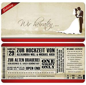 Einladungskarte-zur-Hochzeit-Vintage-Used-Look-Eintrittskarte-mit-Abriss