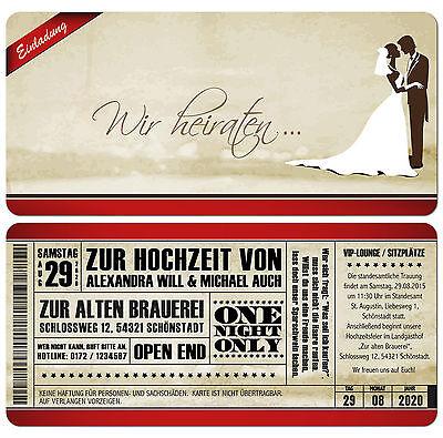 """Fiducioso Cartolina Invito Al Matrimonio-vintage-used-look - Biglietto Con Demolizione-e Zur Hochzeit - Vintage - Used-look - Eintrittskarte Mit Abriss"""" Data-mtsrclang=""""it-it"""" Href=""""#"""" Onclick=""""return False;"""">"""