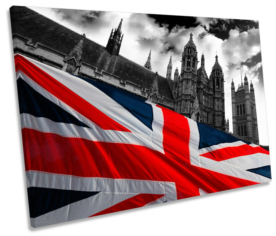 Houses of Parliament London SINGLE CANVAS WALL ART Print Picture