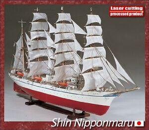 Woody JOE 1/80 large model sailing ship Nippon Maru Wooden Mini model Kit Japan
