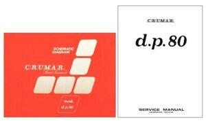 CRUMAR DP-80 Service Manual repair Schematic Diagrams Schema Schaltplan DP80