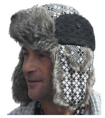 Di Animo Gentile Classico Stile Colbacco Russo-nero Trapper Hat Taglia 57 Cm-mostra Il Titolo Originale