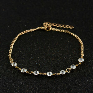 Women-Lady-Crystal-Rhinestone-Beads-Anklet-Ankle-Bracelet-Chain-Summer-Jewelry