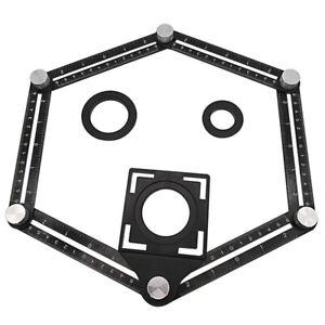 Regolabile-Metallo-Quattro-Lati-Multi-Angolo-Compreso-Modello-Strumento-Righello