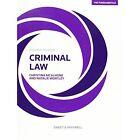 Criminal Law - The Fundamentals by Christina McAlhone, Natalie Wortley (Paperback, 2016)