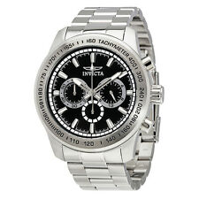Invicta Speedway Chronograph Black Dial Stainless Steel Mens Watch 21793