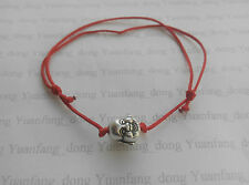 Lucky Red Cord Chinese Feng Shui Buddha Charm Pendant Bracelet Friendship