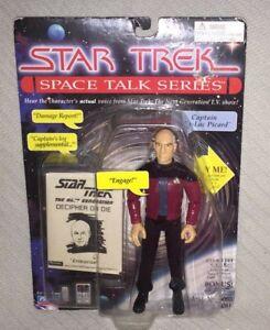 1995 Playmates Star Trek Space Talk Series Captain Jean-Luc Picard Action Figure