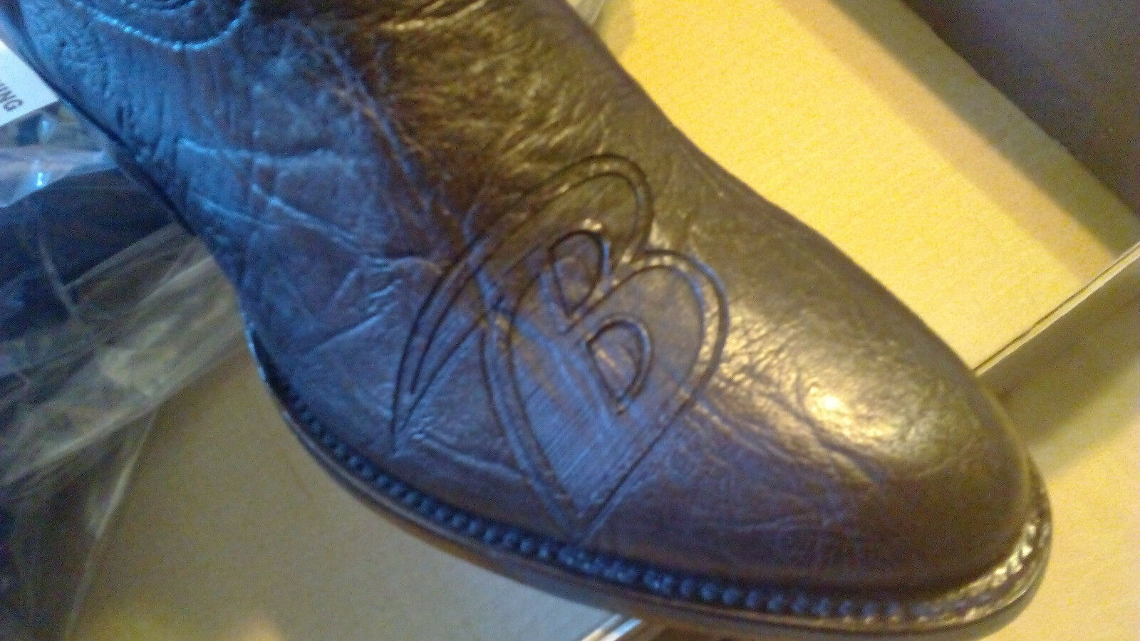 NFL BALTIMORE RAVENS Men's Cowboy Western Leather stivali Mens Dimensione 10 FREE SHIP
