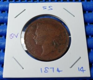 1874-Straits-Settlements-Queen-Victoria-One-Cent-Coin