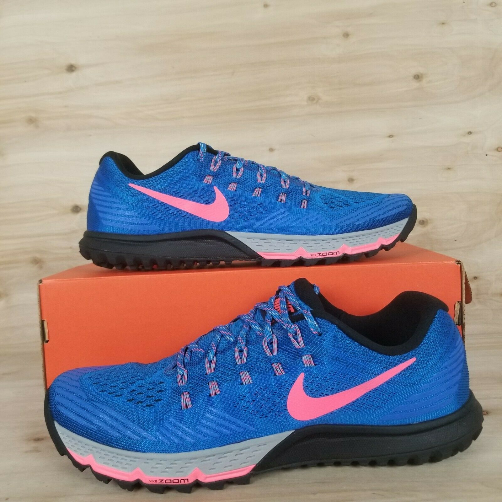 NIKE AIR ZOOM TERRA KIGER 3 TRAIL RUNNING SHOES BLUEHOT PUNCH MEN'S SZ:10.5 13