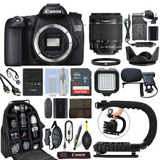 Canon EOS 70D Digital SLR Camera with 18-55mm IS STM Lens + 64GB Pro Video Kit