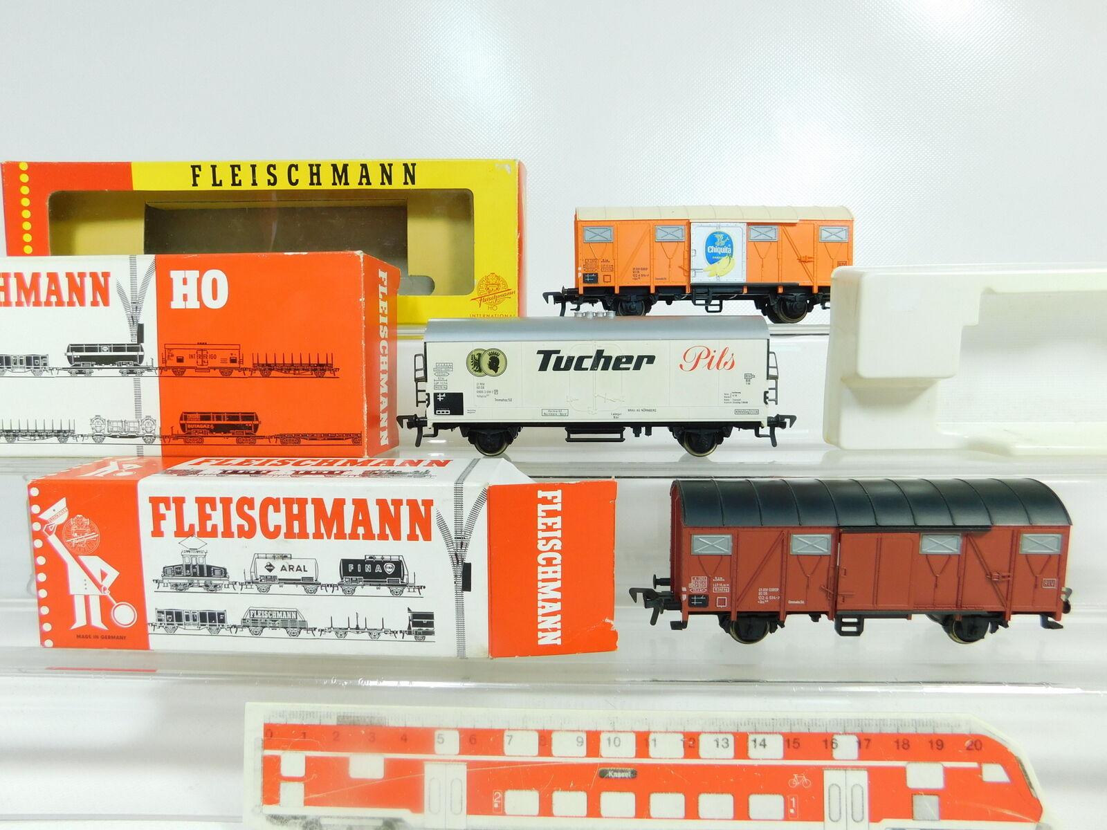 BR56-1x Fleischmann H0 DC Güterwagen DB  1470 G + 5326 Tucher + 5330, OVP