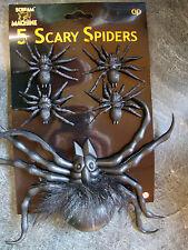 5 x Decoraciones de Fiesta Halloween Arañas favorece premios botín relleno decoración de mesa