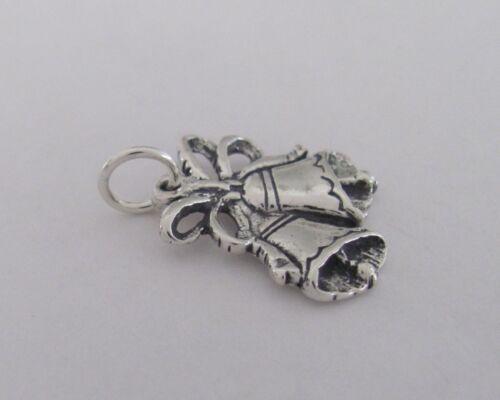 Sterling Silver Wedding bells charm