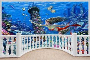 Huge-3D-Balcony-Fantasy-Mermaids-Under-Sea-Wall-Stickers-Mural-Decal-447