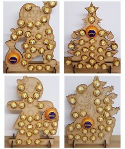 WOODEN-ADVENT-CALENDAR-CHRISTMAS-TREE-FITS-24-FERRERO-ROCHER-amp-CHOCOLATE-ORANGE