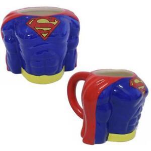 Dc Superman Clasico Torso 3d Taza En Caja De Regalo Nuevo Regalo