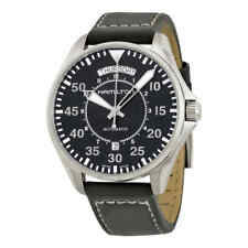 8b3e9b06e Hamilton Khaki Pilot Day Date Automatic Black Dial Men's Watch ...