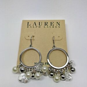 100-Authentic-New-Lauren-by-Ralph-Lauren-Pearl-Accent-Women-039-s-Earrings
