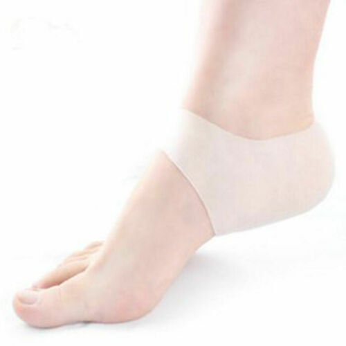 Elastic Heel Arch Silicone Protect Ankle Gel Brace Fasciitis Pain Relief Plantar