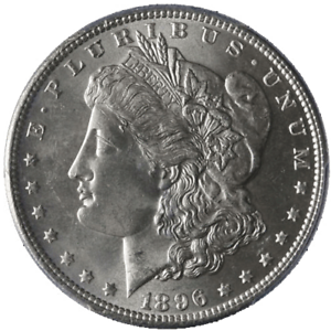 1896-P-Morgan-Silver-Dollar-PCGS-MS64-Blast-White-Nice-Strike-STOCK