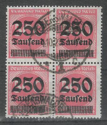 1919-1923 Logisch Deutsches Reich Minr 295 Einheit 4er Ex 277-296 Vollstempel Eberswalde Durchblutung GläTten Und Schmerzen Stoppen