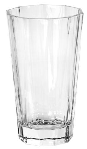 Geometric Clear Ice Tea Water Drinking Tumbler Highball Glasses Set of 6 15 oz