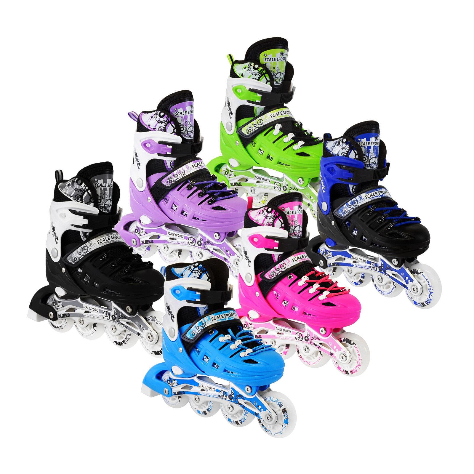 61dc7f97132ab LED Roller Blades Kids Adjustable Inline Speed Skates Girls Size 4-6 US  Pink for sale online