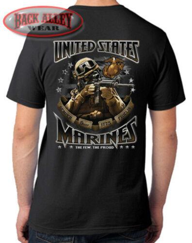 USMC T-SHIRT Tee ~ United States Marines Corps ~ Marine Soldier Vet SEMPER FI