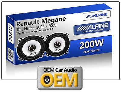 """ALPINE RENAULT TWINGO II  On 5.25/"""" 13cm 2 Way  Coaxial Front Door Speakers"""