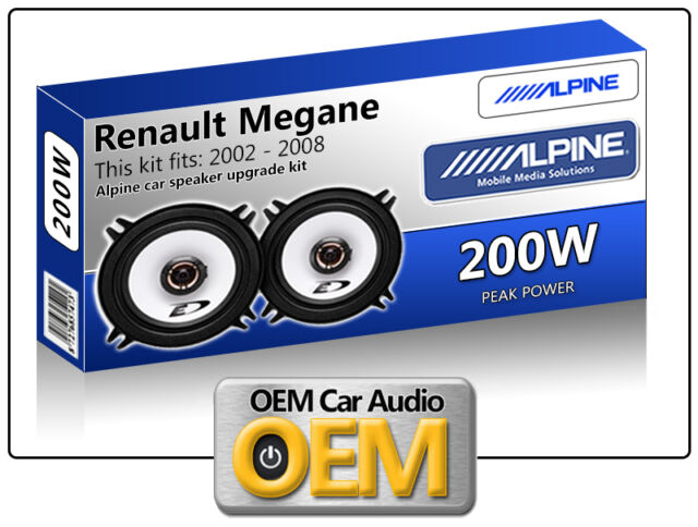 "Renault Megane Front Door speakers Alpine 5.25"" car speaker kit 200W Max"