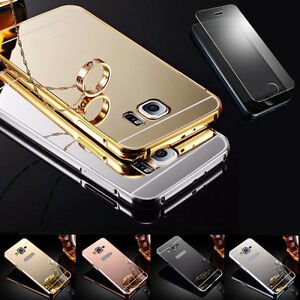 360-Handy-Tasche-Case-Cover-Schutz-Huelle-Spiegel-Aluminium-Panzerglas-Folie