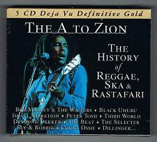 THE A TO ZION - THE HISTORY OF REGGAE, SKA & RASTAFARI - COFFRET 5 CD NEUF NEW