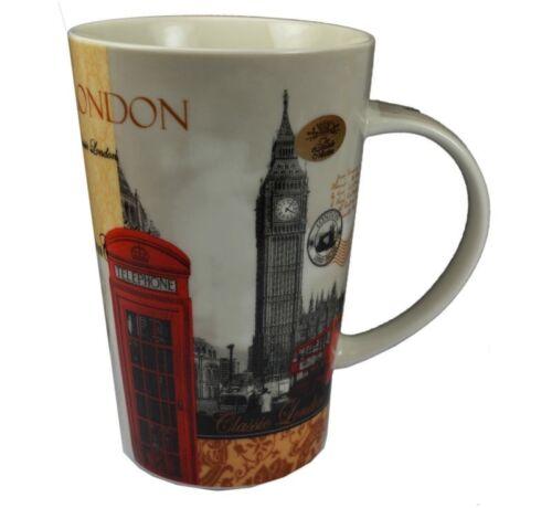 2 X NEW LONDON DESIGN BIG BEN TELEPHONE BOX Giant Latte MUG fMug BOXED GIFT