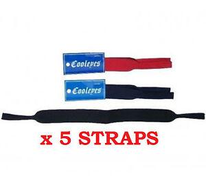 Bulk-BuyNeoprene-head-strap-for-sunglasses-glasses-great-for-sport-x-5-Straps