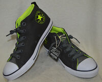 Converse All Star Ct Street Cab Mid Grey/neon Boy's Sneakers- Assorted Sizes Nwb