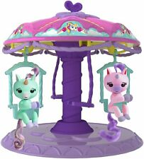 Fingerlings Twirl-a-Whirl Carousel Playset with 2 Fingerlings Unicorns