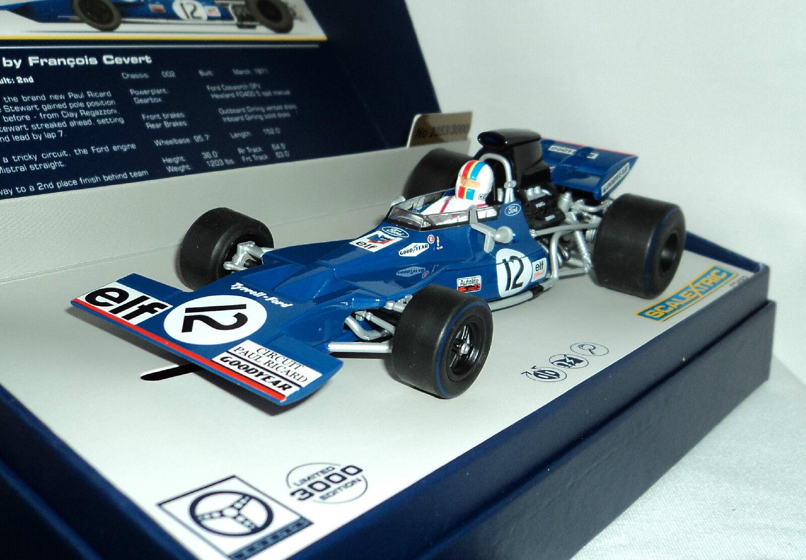 Scalextric C3482A Tyrrell 002 en serie limitée Paul Ricard 1 32 Slot Car
