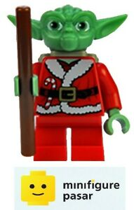 sw358 Lego Star Wars 7958 - Santa Yoda w Backpack Minifigure Christmas - New