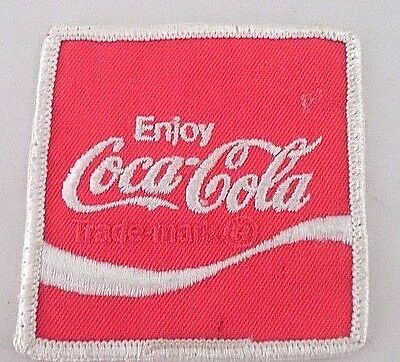 Vintage 70/'s Embroidered Employee Cloth Patch COCA-COLA Wave Logo Uniform NOS