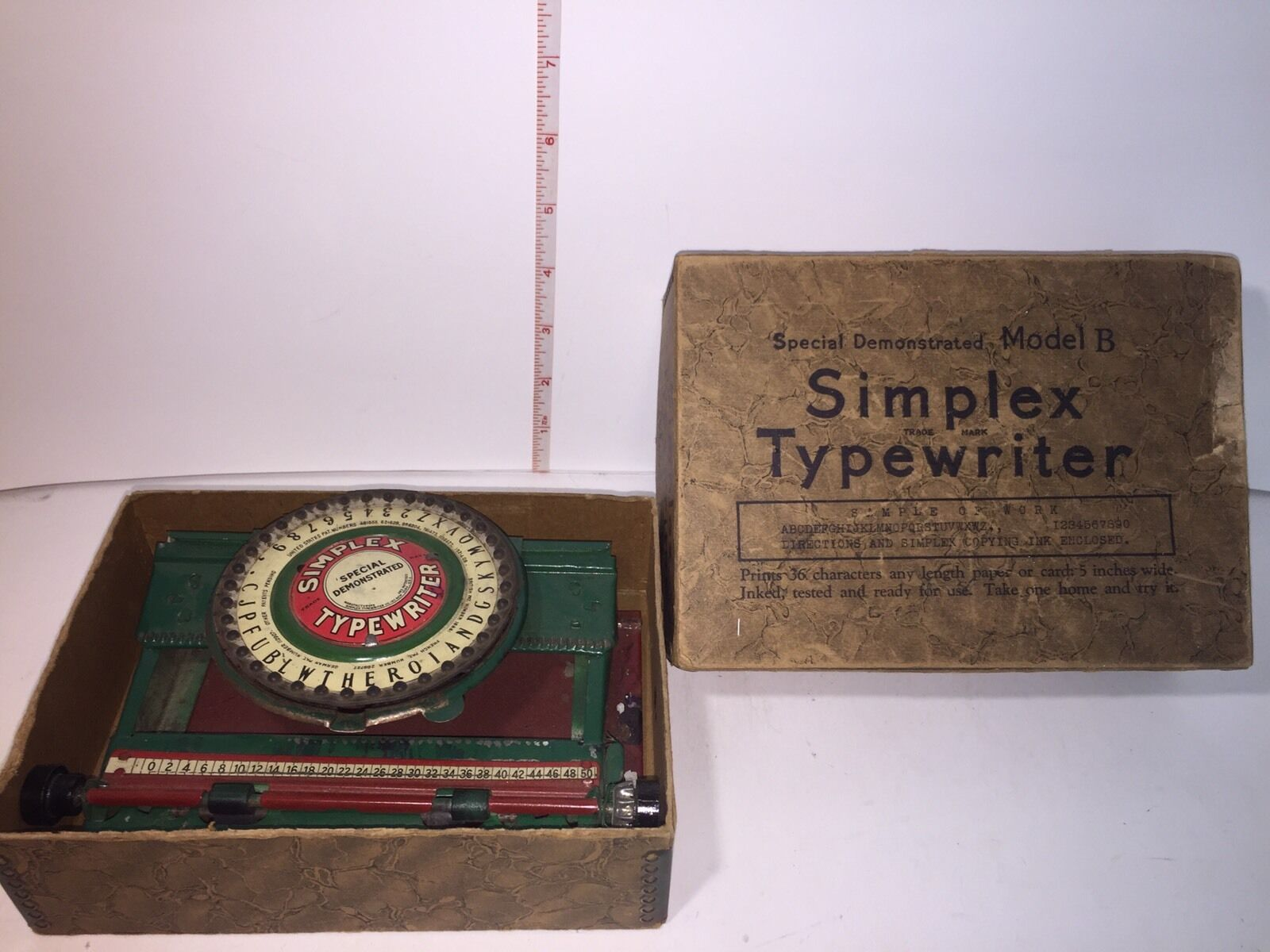 Antique SIMPLEX TYPERWRITER SPECIAL DEMONSTRATED MODEL B B with Box Early 1900's