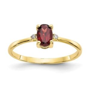 10K Gold Genuine Garnet January Birthstone and Diamond Ring (0.016 CTW) rG05eLQs-09092020-869381699